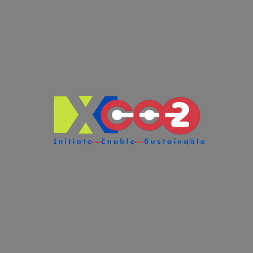 Climate change design with the title 'Xco2'