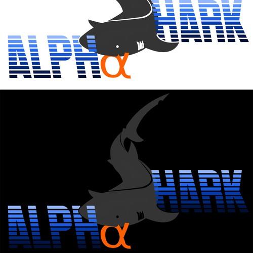 Alpha logo with the title 'Create a logo for Alpha Shark'