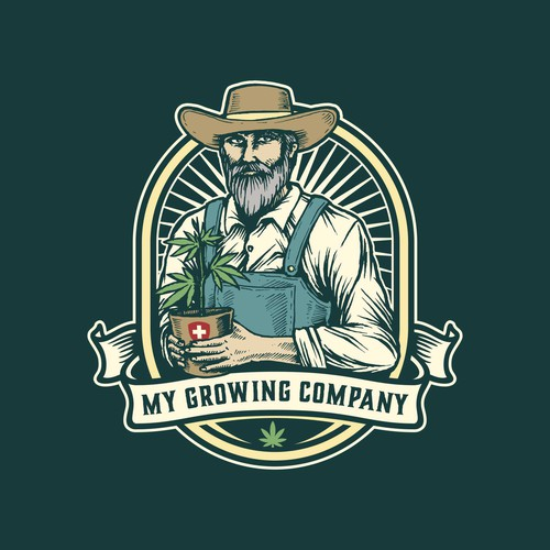 Farm logo with the title 'Final design for My Growing Company'