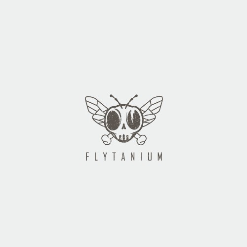 Fly logo with the title 'Badass logo with dead fly theme'