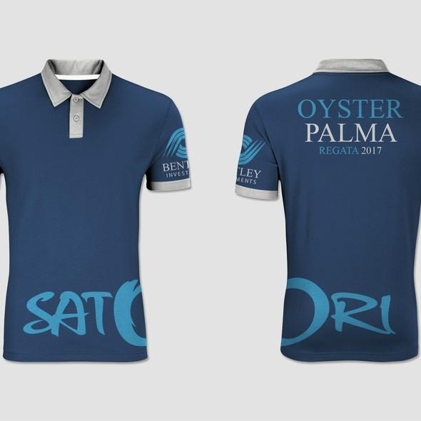 Polo shirt design with the title 'Satori yachts uniform'