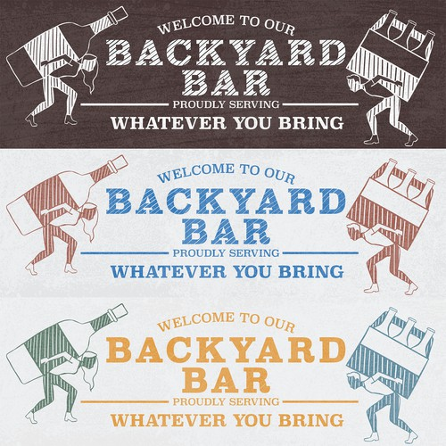 Sign illustration with the title 'Backyard Signs'