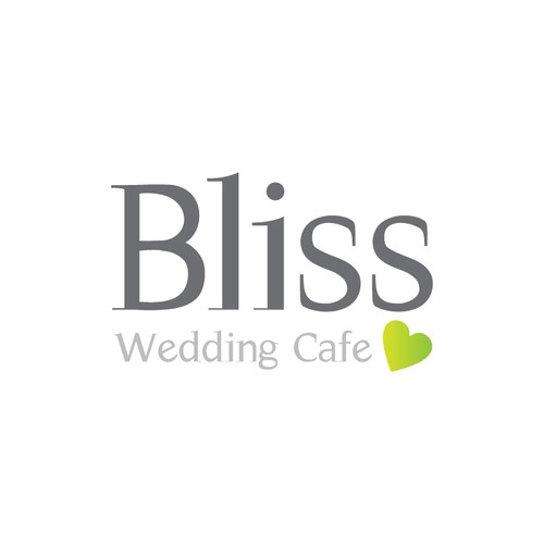 Bride and groom logo with the title 'Help Bliss Wedding Cafe with a new logo'