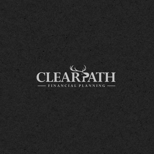 Deer logo with the title 'Negative Space Logo for Clear Path Financial Planning.'