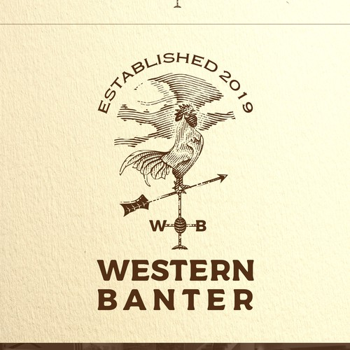Cloud logo with the title 'Western Banter'