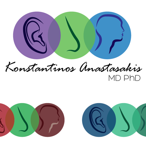 Nose design with the title 'Help Konstantinos Anastasakis, MD, PhD with a new logo'
