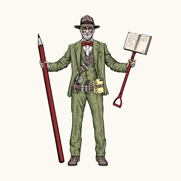 Suit design with the title 'Wordhunters'
