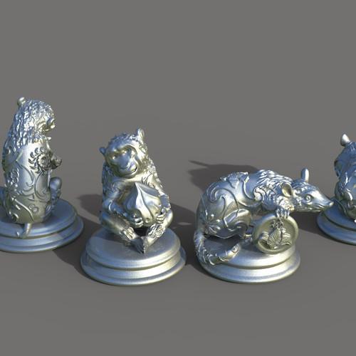 Sculpture design with the title '3D Prints'