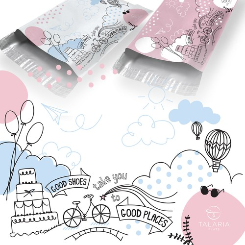Dreamy design with the title 'Cute Design for a Poly Mailer '