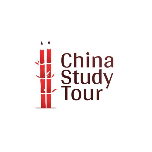 Study design with the title 'Study in China - Logo Design'