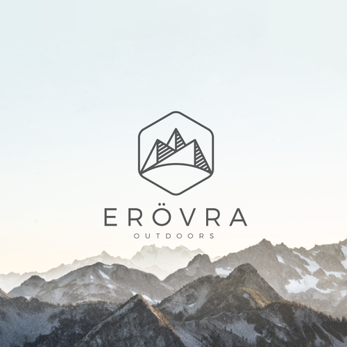 Mountain logo with the title 'logo concept for an outdoor company'