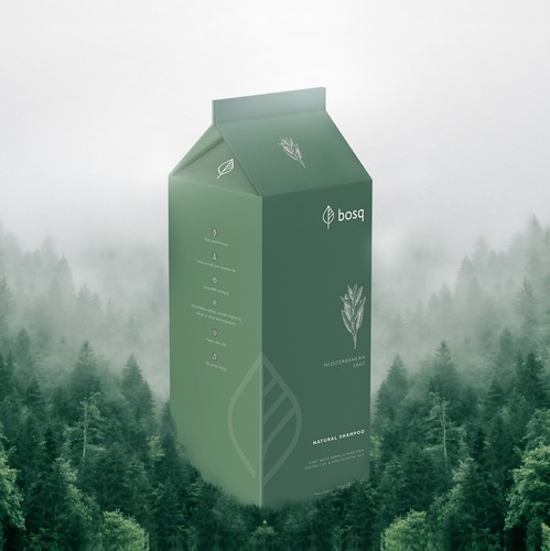 Beauty packaging with the title 'Minimalist Milk Carton Packaging for Natural Soap Company'