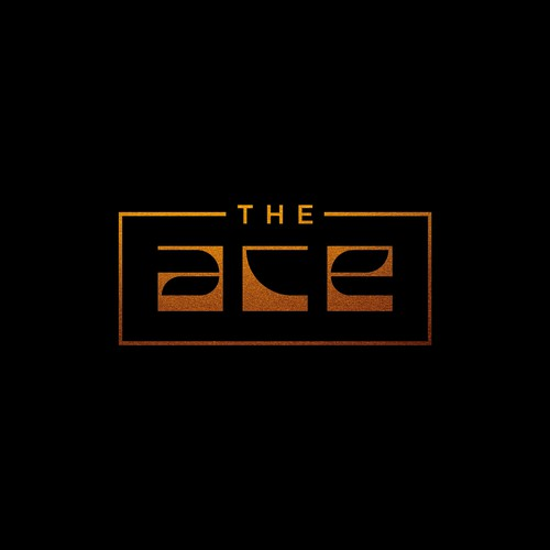 Hand-lettered logo with the title 'ACE logo concept'