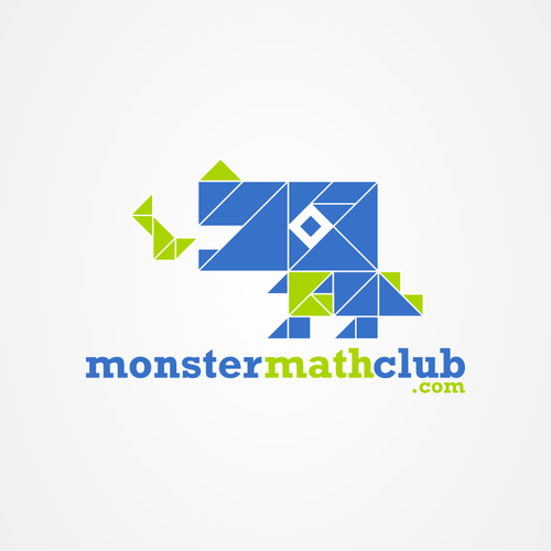 T-rex design with the title 'Create the next logo for Monstermathclub.com'