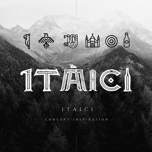 Native logo with the title 'Typography concept for Itaici brewery'