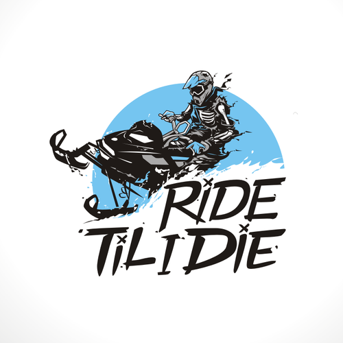 Biker design with the title 'RIDE TIL I DIE'