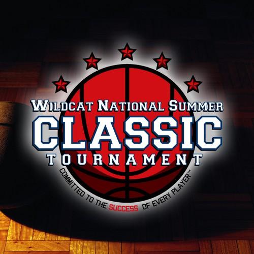 High school logo with the title 'High School Basketball Tournament Logo'