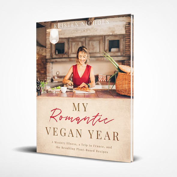 """Trip design with the title '""""My Romantic Vegan Year"""" Cookbook'"""