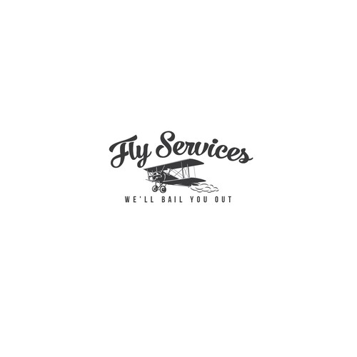 Flying design with the title 'Fly Services'