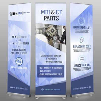 DirectMed Three Stand Banners Mock-up