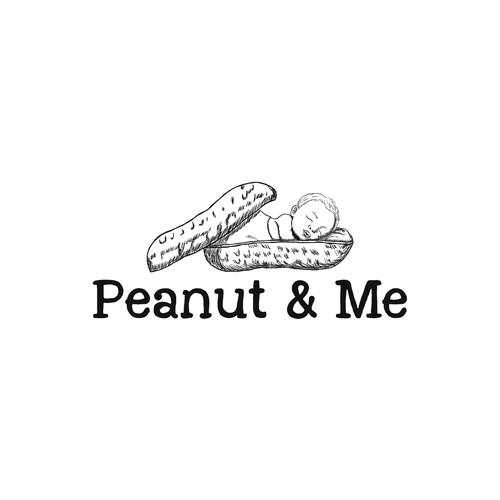 Peanut logo with the title 'Baby peanut logo'