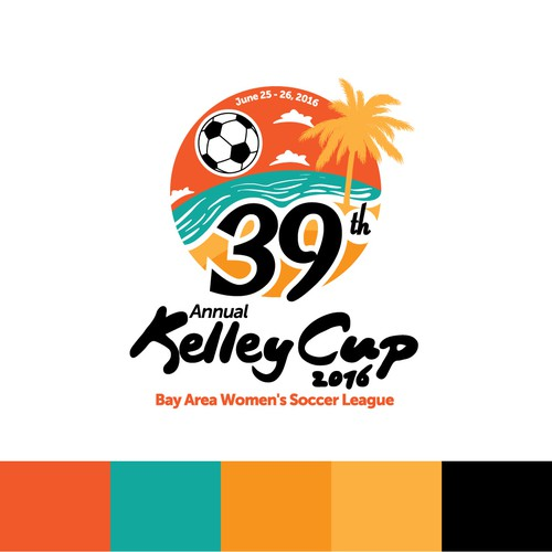 Competition logo with the title 'Annual Women's Soccer League Logo'