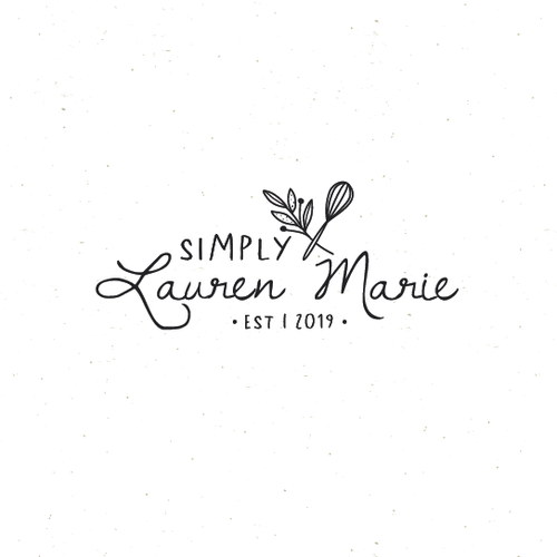 Botanical design with the title 'simply Lauren Marie'