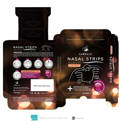 packaging box for Nasal strips