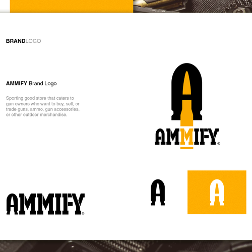 Military design with the title 'Logo design for AMMIFY'