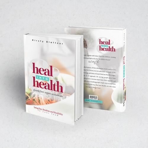 Blend design with the title 'Healthy recipes book cover'