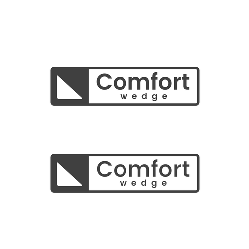 Comfort logo with the title 'Won a simple logo design for Comfort Wedge'