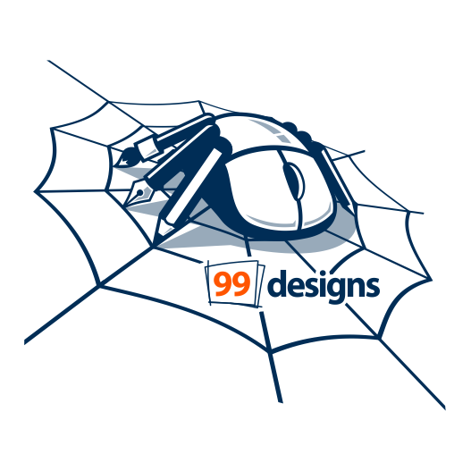 Community illustration with the title 'Create 99designs' Next Iconic Community T-shirt'
