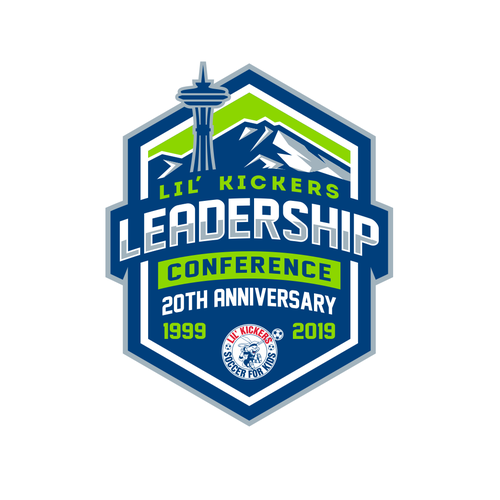 Soccer logo with the title 'Lil' Kickers Annual Leadership Conference'