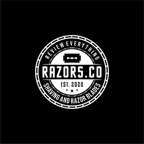 Shaving logo with the title 'RAZORS.CO'