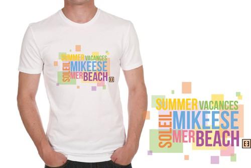 Holiday t-shirt with the title 'Un t-shirt graphique pour l'été.'