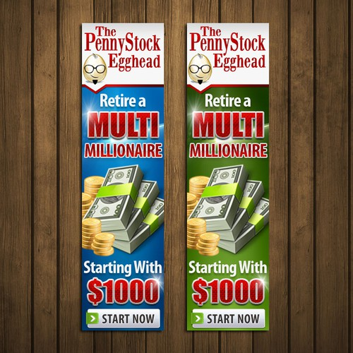 Call to action design with the title 'Banner Ads For PennyStockEgghead.com'