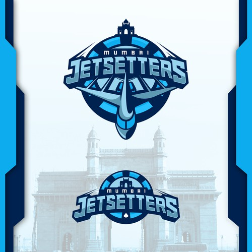 Jet logo with the title 'Jetsetter Esport Team Logo'