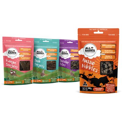 Fun and bright design for dog treats