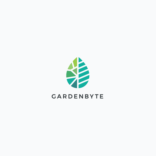 Plant design with the title 'Gardenbyte Logo Design'