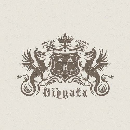 Shield logo with the title 'Nipyata, Inc. needs a company logo - the pinata for the 21 + crowd'