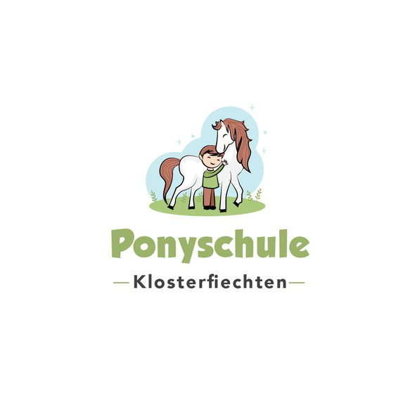 School logo with the title 'cute logo for pony farm'