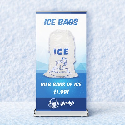 Wendy's Ice Bags - Banner Design