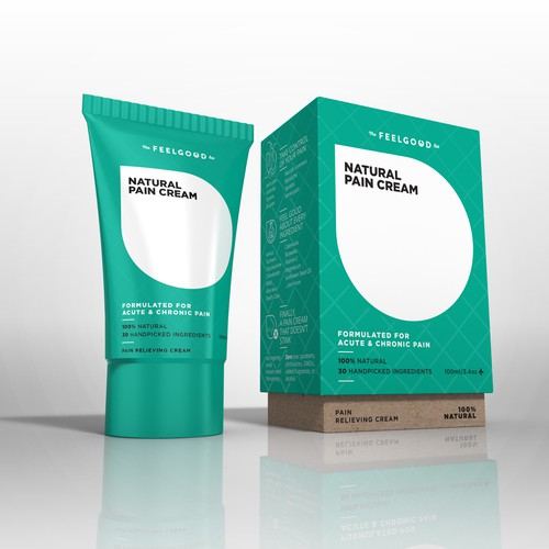 Cream packaging with the title 'Packaging for a top selling health product'