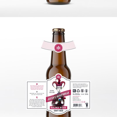 Jesters Heartbreak Beer Label