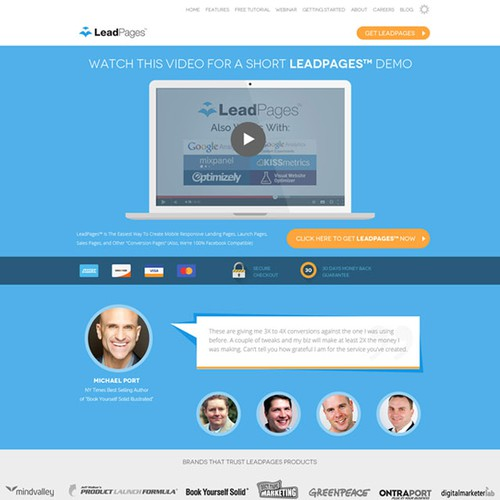 Bright website with the title 'Homepage design'