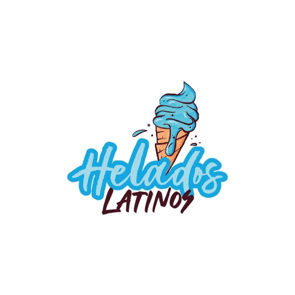 Gelato design with the title 'Latino helado'