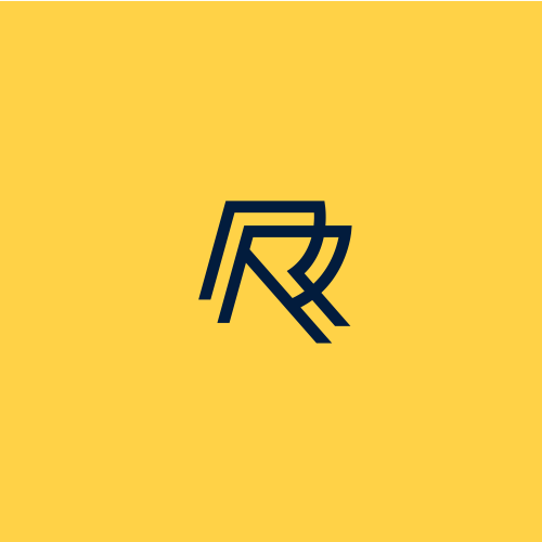 Transportation logo with the title 'double R monoline '