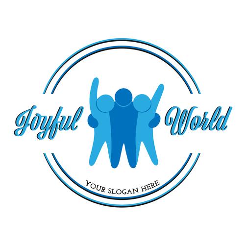 Tagline logo with the title 'Joyful World'