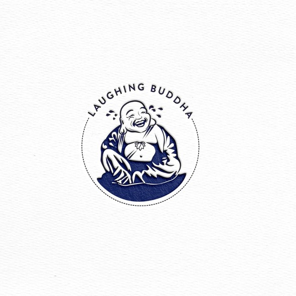 Buddha brand with the title 'Laughing buddha logo'