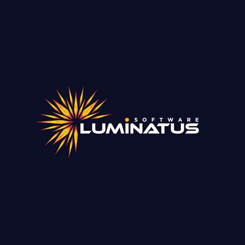 Tech company logo with the title 'Innovation logo for a tech company the name LUMINATUS'